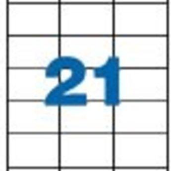 Apli Apli-nr. 01276  Laser-etiketten op A4 vellen, permanent, etiketafmeting 70x42.4mm  100 vel