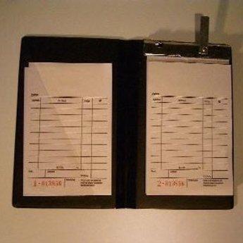 Bloc-houder voor bonboekjes/kassabloks A5. Kleur zwart. Dit is dus een grotere afmeting!