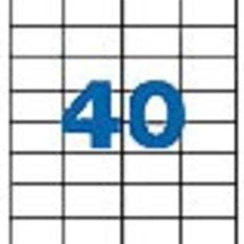 Apli Apli-nr. 01286  Laser/inkjet/kopieer-etiketten op A4 vellen, etiketafmeting 52,5x29,7mm  100 vel