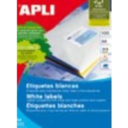 Apli Apli laser A4 etiketten 48,5x25,4 4400