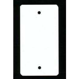 PVC-labels 150x180 mm wit 2 gaten 1000st