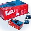 Apli Fold back clips black  19 mm