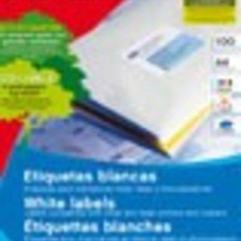 Apli Apli-nr. 01295  Laser/inkjet/kopieer-etiketten op A4 vellen, etiketafmeting 70x50,8mm  100 vel