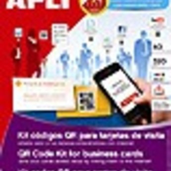 Apli Apli-nr. 12434  QR Code kit for business cards. Double sided adhesive 320g. Afmeting 85x40mm. Aantal 60 stuks.<br /> <br /> APLI aims to combine all the advantages of the traditional card materials with the new technologies; for this reason we are offering the market