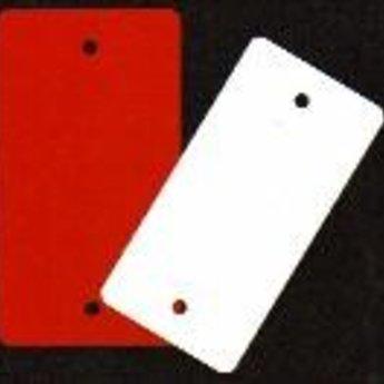 Apli PVC-labels 80x25 mm wit zonder gaten, 1000 stuks.