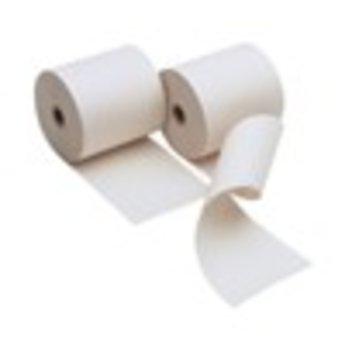 Duplo-printerrol 57x70x12 wit/geel  rollengte 30 meter. Duplorol.  Prijs per rol. Volle doos bevat 50 rollen. Geschikt voor printers met een inktrol of printerlint. Bisphenol safe (Bisfenol A) (BPA)