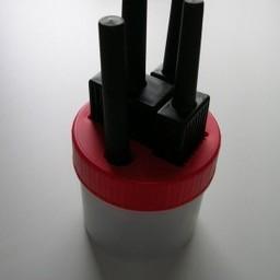 Plekolit Plekolit stiftpot rood  -4 stiften breed