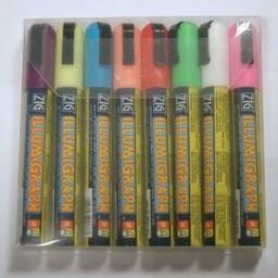 Krijtstiftset 2-6 mm - 1 wit en7 kleuren