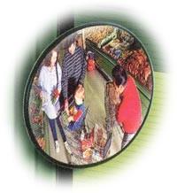 Bewakingsspiegel panoramisch(loopt iets rond) diameter 45 cm van acryl, compleet met ophangbeugel