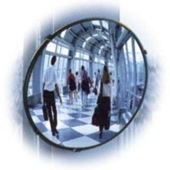 Bewakingsspiegel panoramisch(loopt iets rond) diameter 60 cm van acryl, compleet met ophangbeugel