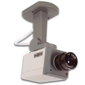 Dummy camera, draaiende nepcamera met LED. Werkt alleen op 3 niet meegeleverde penlightbatterijen. = Nep camera.<br /> <br /> Voor een preventieve werking.