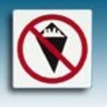 Apli APLI Signs - Nr. 00847 - No Eating - afmeting 114x114mm zelfklevend