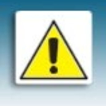 Apli APLI Signs - Nr. 10434 - Danger - afmeting 114x114mm zelfklevend