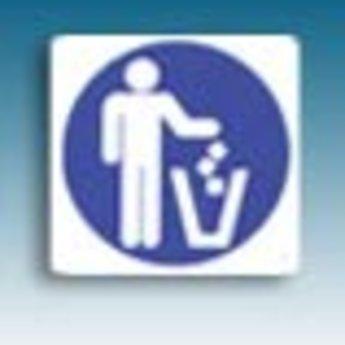 Apli APLI Signs - Nr. 10433 - Garbage - afmeting 114x114mm zelfklevend