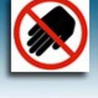 Apli APLI Signs - Nr. 10948 - Do not Touch - afmeting 114x114mm zelfklevend