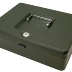 """Geldkistje met slot -8""""- afm. 20 cm"""