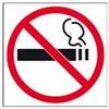 Apli Pictogram  Roken verboden - achter glas