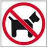 Apli Pictogram  Verboden voor honden - glas