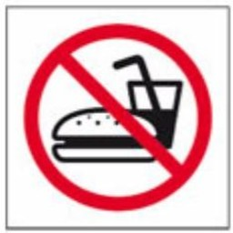 Apli Pictogram  Verboden om te eten - glas