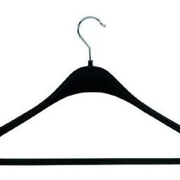 Hanger zwart F44     kostuum/mantel/jack