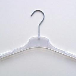 Hanger transparant 33cm vlak 450 stuks