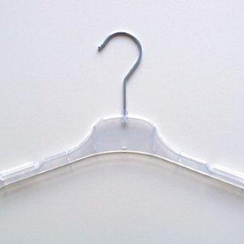 Hanger transparant 33 cm vlak met rokinkepingen, doosinhoud 450 stuks