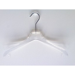 Hanger transp gebogen 32cm 230 stuks