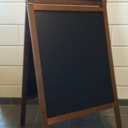 Krijtstoepbord FINE bxh 60x100+23cm mahonie