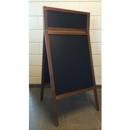 Krijtstoepbord FINE bxh 60x100+23cm maho