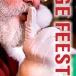 Raambiljet thema PRETTIGE FEEST kerstman