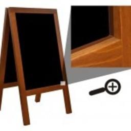 Krijtstoepbord FINE bxh 65x120cm mahonie