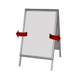 Stoepbord PRESTIGE 70x100 cm Twinsnap