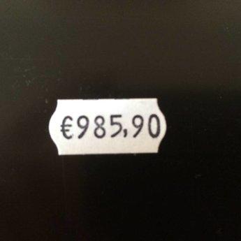 Blitz Prijstang BLITZ C6 , 1-regelige prijstang met als afdruk €345.78 met grote cijfers. Passende etiketten beginnen met art.nr. 27113... Geproduceerd in Itali