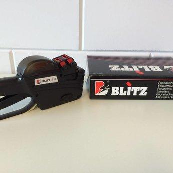 Blitz Prijstang BLITZ S16 - 2-regelige prijstang met boven 8 posities voor prijs/nummer/datum en onder een prijs €9999,99