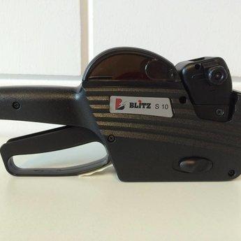 Blitz Prijstang BLITZ S10 onderste regel 5klein 5groot voor etiket 26x16 rechthoek. Geproduceerd in Itali