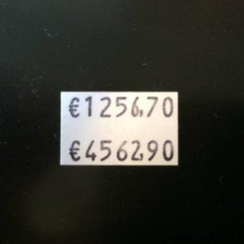 Blitz Prijstang Blitz C14 2-regelige prijstang met op elke regel 7 posities met cijfers.