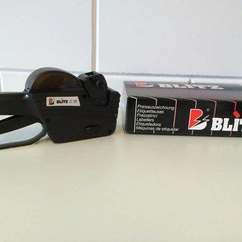 Blitz Prijstang BLITZ C10 met afdruk 10 cijfers groot, alles op 1 regel.