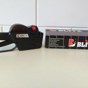 Blitz Prijstang BLITZ C8 , 1-regelige prijstang met als afdruk ?2345.78 of een 8 cijferig nummer, of een datum met eventueel voorbedrukte etiketten. Passende etiketten beginnen met art.nr. 27113... Geproduceerd in Itali