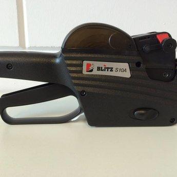 Blitz Prijstang BLITZ C10/A Afdruk A-Z & 0-9 op alle 10 de posities, alles op 1 regel. Passende etiketten beginnen met artikelnr. 27113... Geproduceerd in Itali