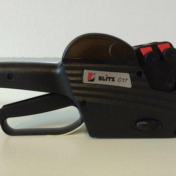 Blitz Prijstang Blitz C17 is een 2-regelige prijstang met boven 10 posities met cijfers en onder 7 posities voor prijs: €2345.67