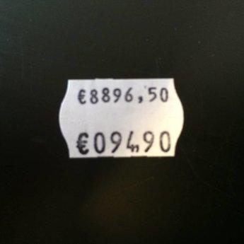 Blitz Prijstang BLITZ S14 . 2-Regelige prijstang met op de bovenste regel 8 posities voor een prijs/nummer/datum, en op de onderste regel een prijs ?999,99 Passende etiketten beginnen met artikelnr. 27183... Met Euro-teken en F-teken. Geproduceerd in Itali