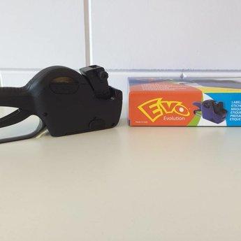 Evo Prijstang Evo 2612-10 voor afdruk van 10 posities op etiketten 26x12mm, datumafdruk of prijs.