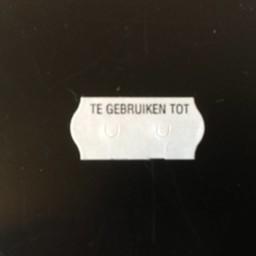 Etiket 2612 wit/zwart TE GEBRUIKEN TOT
