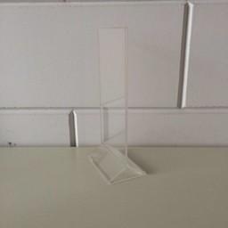 Menu-standaard acryl - 10x21 cm