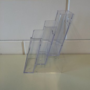 3-Vaks folderbakje, elk voor 100x210 mm