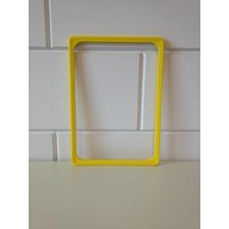 Prijskaartraam A4 geel   profiel-1
