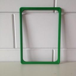 Prijskaartraam A4 groen  profiel-1