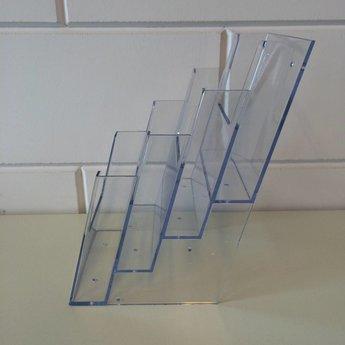 4-Vaks wandfolderbak voor folders Din A5