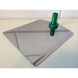 Voetplaat metaal-buishouder - groen