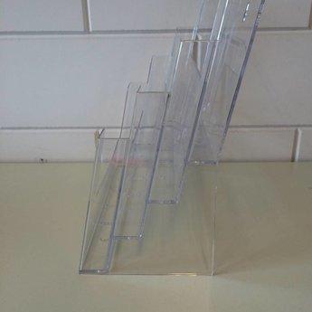 Folderbakje A4-4-vaks landscape staand